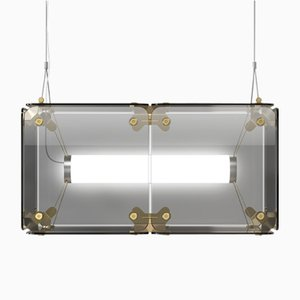 Hyperqube 2-Module Glass Pendant Lamp with Dimmable LED from Felix Monza