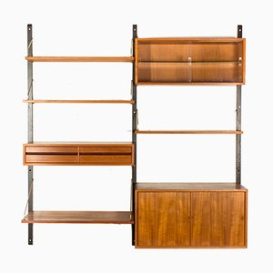 Vintage Danish Teak & Brass Wall System by Poul Cadovius for Cado
