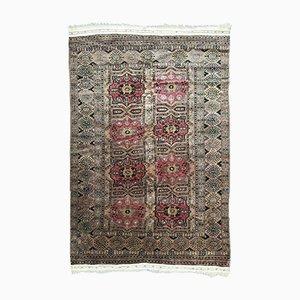 Vintage Tekke Turkmen Hand-Knotted Rug