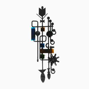 Wandschmuck aus Eisen mit Glas-Elementen von Dantoft, 1960er