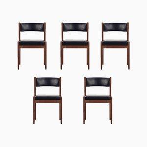 Modell 104 Esszimmerstühle von Gianfranco Frattini für Cassina, 1950er, 5er Set