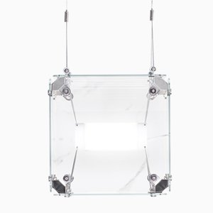 Hyperqube 1-Module Glass Pendant Lamp with Dimmable LED from Felix Monza