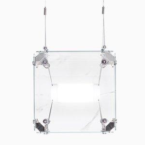 Lámpara colgante Hyperqube de vidrio con LED regulable de Felix Monza