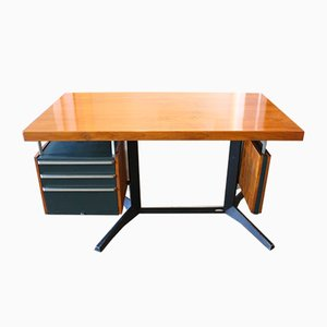 Mid-Century Industrial Desk by Daciano da Costa for Metalúrgica da Longra, 1960s