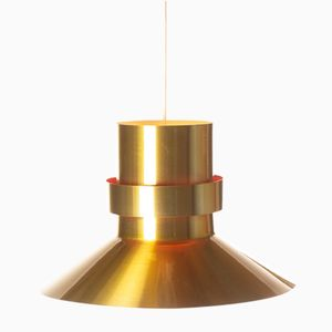 Mid-Century Danish Brass-Colored Pendant, 1960s