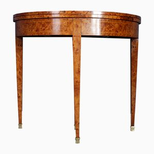 Burr Yew Card Table, 1970s