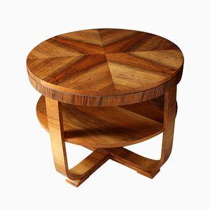 Table Basse Vintage Art Deco en Noyer