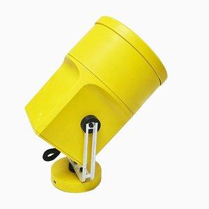 Lampada da parete modello Unispot gialla di Louis Poulsen, anni '70