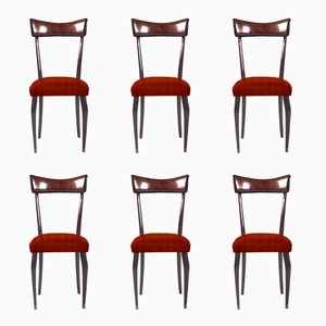 Customizable Italian Dining Chairs, 1950s, Set of 6