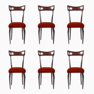 Personalisierbare italienische Esszimmerstühle, 1950er, 6er Set