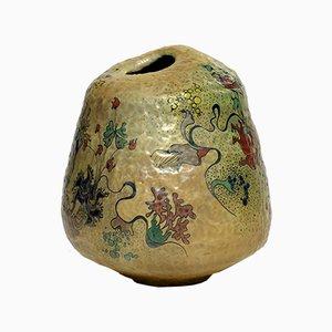 Jarrón escultórico de cerámica de Giacomo Onestini, años 70