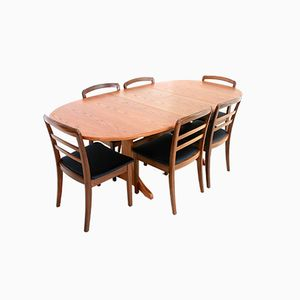 Teak Dining Table & 6 Chairs from G Plan, 1970s