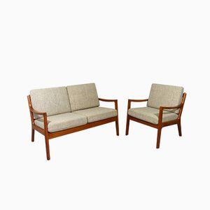 Poltrona e divano Senator vintage di Ole Wanscher