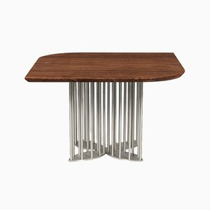 Naiad Dining Table in Walnut & Stainless Steel by Naz Yologlu for NAAZ