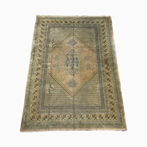 Vintage Tunisian Hand-Knotted Rug