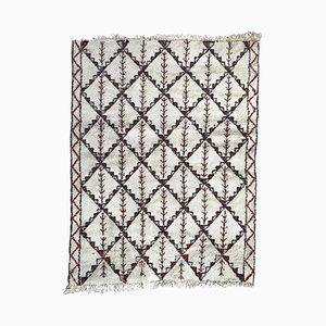 Handgeknüpfter marokkanischer Vintage Beni Ouarain Teppich