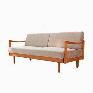 Beech Sofa or Daybed, 1970s