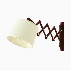 Teak Sconce with Scissor Arm, 1960s