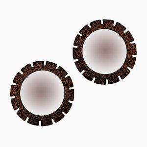 Lámparas de pared Art Déco de espejo, años 30. Juego de 2