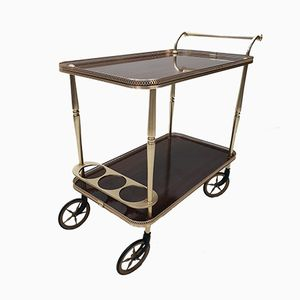 Neo-Classical Brass Serving Trolley, 1960s