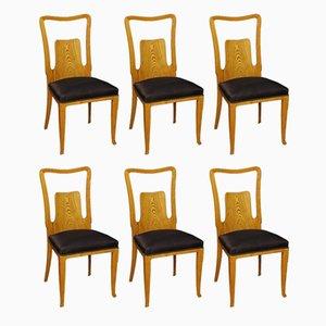 Chaises de Salle à Manger par Ico & Luisa Parisi, Italie, 1950s, Set de 6