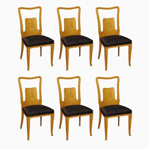 Italian Dining Chairs by Ico & Luisa Parisi, 1950s, Set of 6