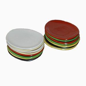 Platos de cerámica de Suzanne Ramié para Madoura, años 50. Juego de 15