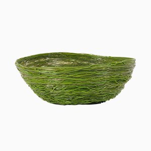 Vintage Green Resin Spaghetti Bowl by Gaetano Pesce