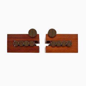 Mid-Century Sessel aus Pinienholz, 2er Set