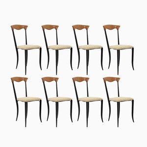 Chaises Charme de Fasem, 1970s, Set de 8