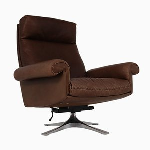 DS 35 Executive Swivel Armchair in Brown Leather from de Sede, 1960s