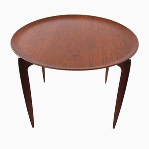 Teak Table with Collapsible Top by Svend Aage Willumsen & H. Engholm for Fritz Hansen, 1950s