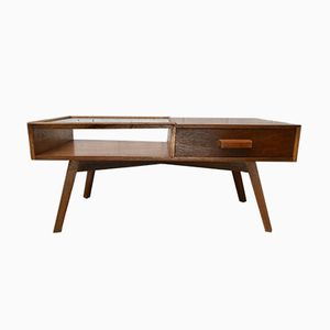 Mid-Century Teak Coffee Table with Drawer, 1950s