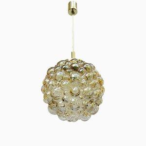 Lámpara de techo vintage de cristal burbuja de Helena Tynell & Heinrich Gantenbrink para Limburg