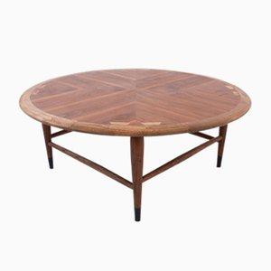 Table Basse avec Marqueterie en Noyer par Andre Bus pour Lane Furniture, 1960s