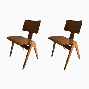 Hillestak Chairs by Robin Day for Hille, 1950s, Set of 2