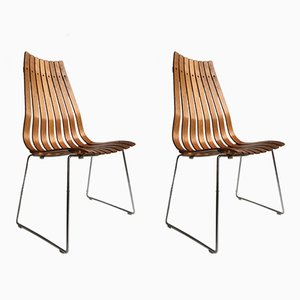 Scandia Chairs by Hans Brattrud for Hove Mobler, 1960s, Set of 2