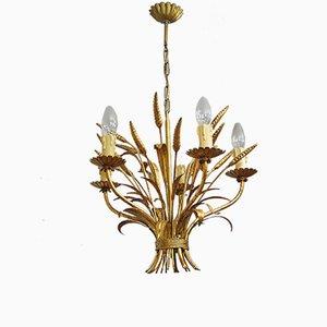 Lámpara de araña vintage dorada de Hans Kögl, años 60