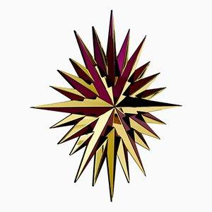 Espejo Super Star en dorado y borgoña de Reflections Coppenhagen