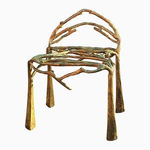 Silla espigada de latón esculpida a mano de Masaya