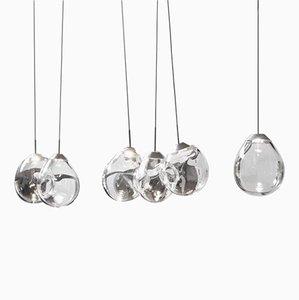 Hängelampen aus geblasenem Glas von Alex de Witte
