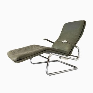Chaise longue Cicero in pelle di Kenneth Bergenblad per Dux, anni '70
