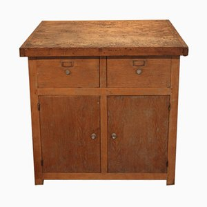 Mid-Century Oak Workshop Cabinet