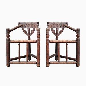 Antike schottische Turner Stühle, 2er Set