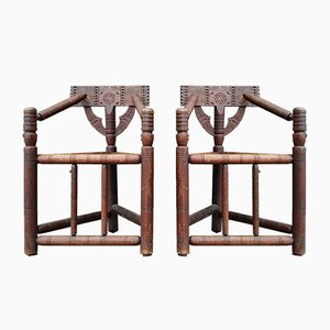 Antique Scottish Turner Chairs, Set of 2