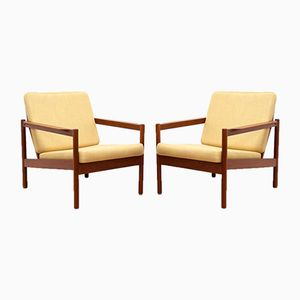 Mid-Century Teak Lounge Chairs, 1950s, Set of 2