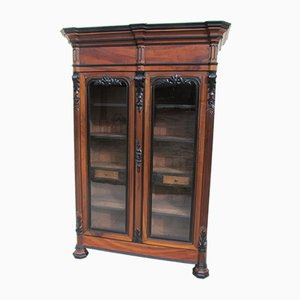 Walnut Bookcase Cabinet, 1880s