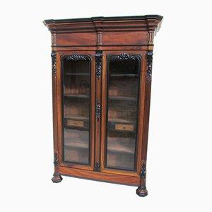 Walnut Bookcase Cabinet, 1880s