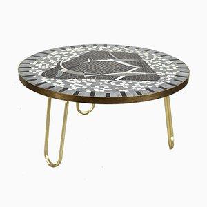 Tavolo con mosaico di Berthold Muller, anni '50
