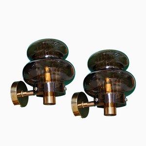 Rd2340 Wandlampen von Carl Fagerlund für Orrefors, 1960er, 2er Set